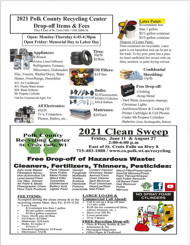 Polk County Recycling Fees
