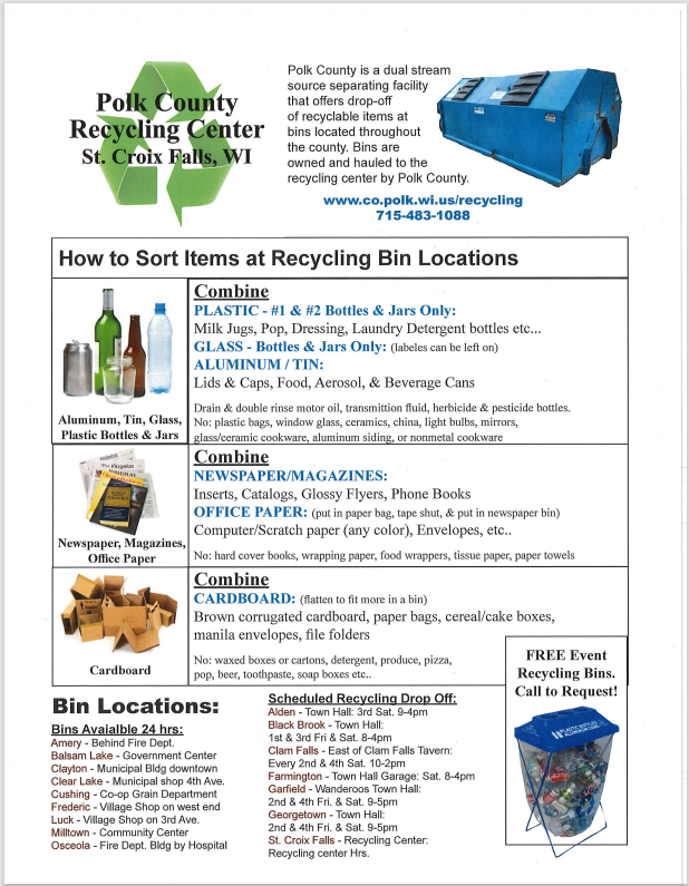 Polk County Recycling Info